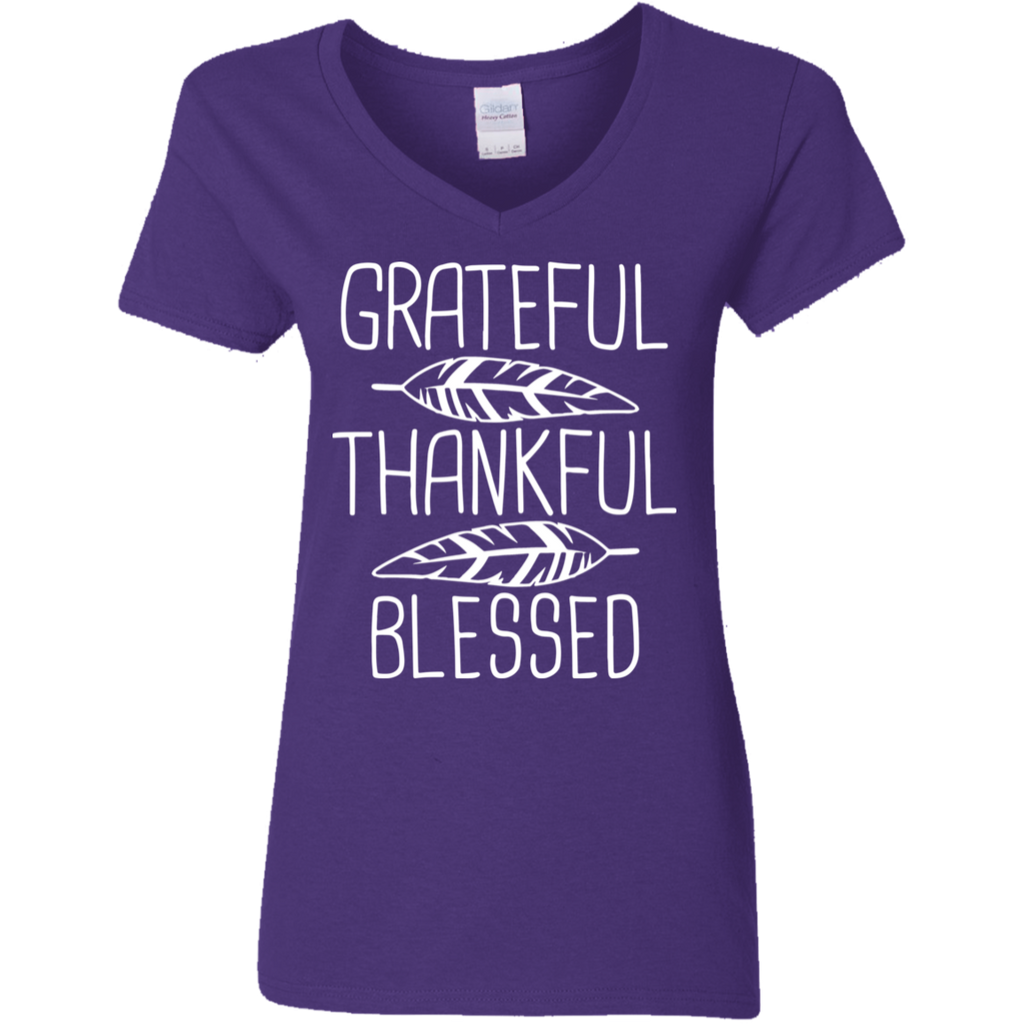 Women-Grateful-Thankful-Blessed-Thanksgiving-Shirt-Women-V-Neck-T-Shirt-White-S-