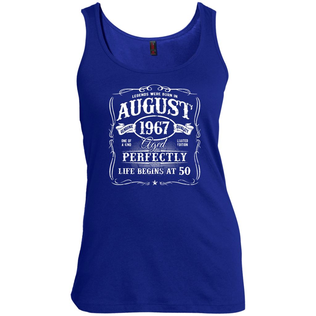 Legends-Were-Born-In-August-1967,-50th-Birthday-Gift-Women's-Tank-Top-Warm-Grey-XS-