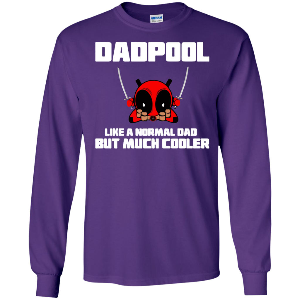 Dadpool-Like-a-normal-dad-but-much-cooler-Tshirt-Ash-S-