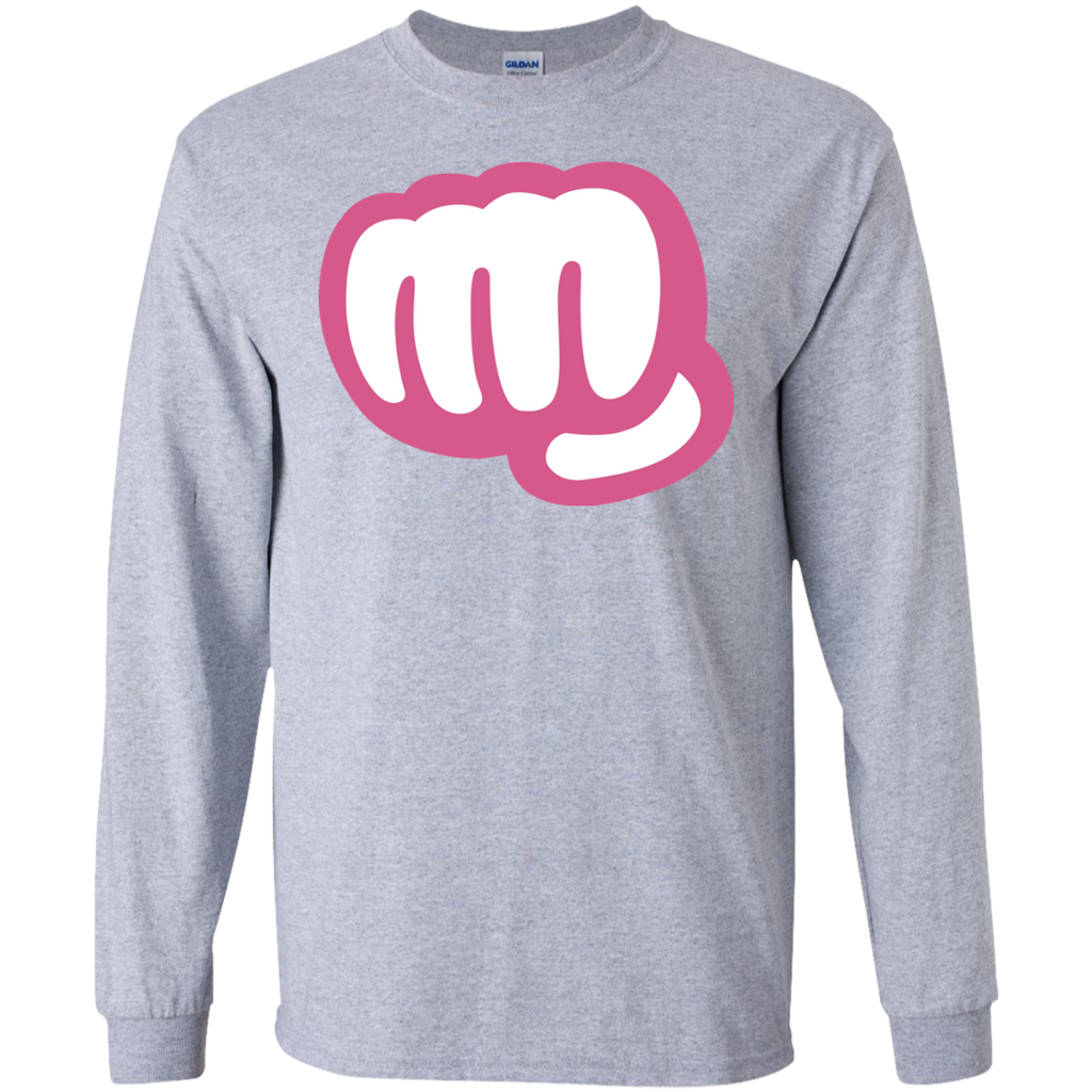 Funny,-punch-LS-Ultra-Cotton-Tshirt-Sport-Grey-S-