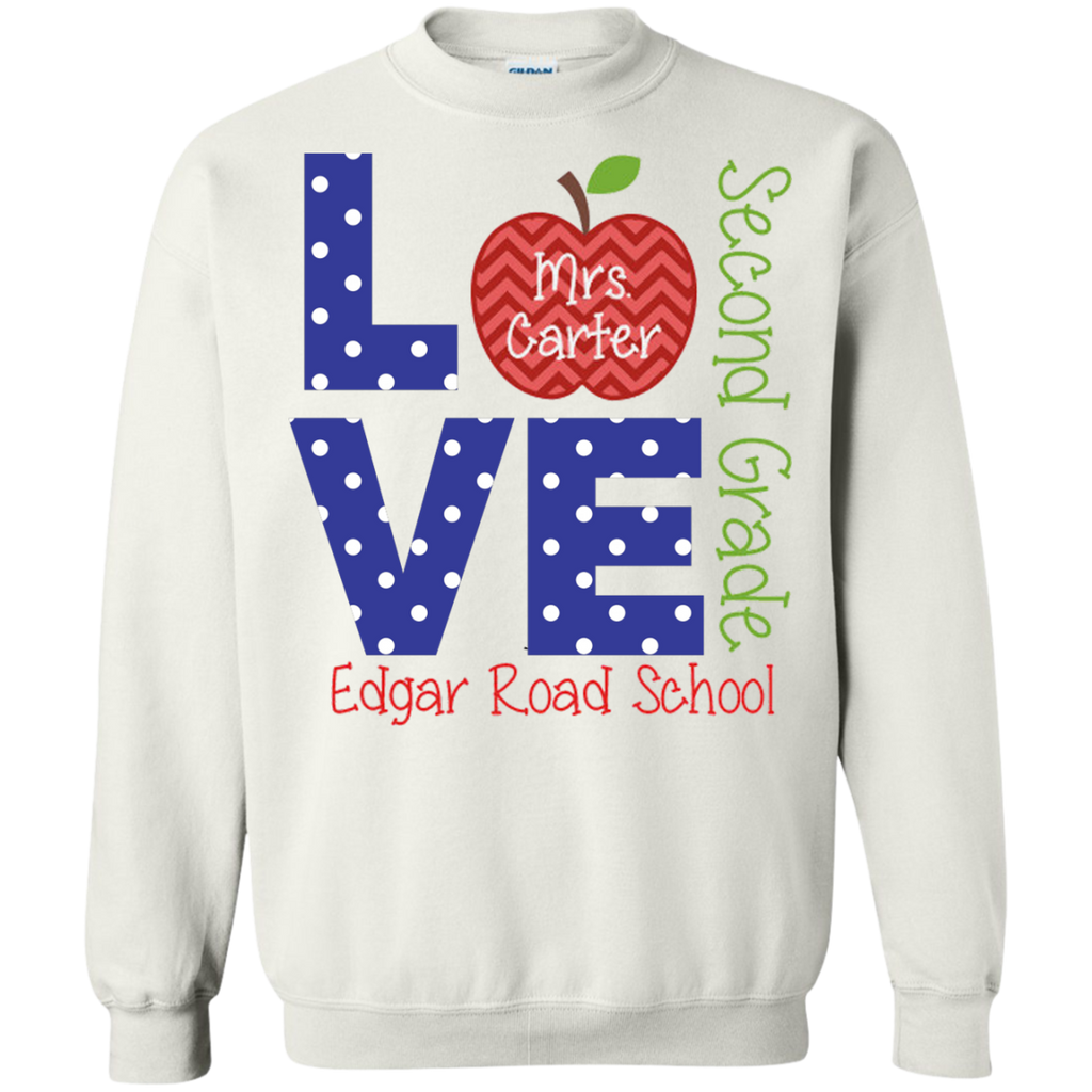 Love-school-teacher's-personalized---Long-Sleeve-LS,-Sweatshirt,-Hoodie-LS-Ultra-Cotton-Tshirt-Sport-Grey-S