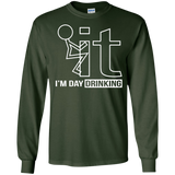 Fk-It-I'm-Day-Drinking-Beer-Wine-LS-T-Shirt-Black-S-