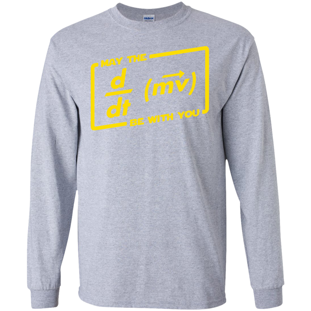 May-The-Force-Equation-Be-With-You-LS-Ultra-Cotton-Tshirt-Sport-Grey-S-