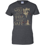 Leave-one-wolf-alive-and-the-sheep-are-never-safe-Ladies'-T-Shirt-Black-XS-