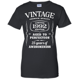25th Birthday Gift - Limited 1992 Edition Ladies T-Shirt - Teeever.com