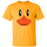 Cute-Duck-Face-T-Shirt-Awesome-Halloween-Costume-Gift-Kid-T-Shirt-Gold-YXS-