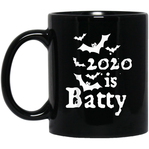 2020 Is Batty Funny Year Halloween Costume Black Mug