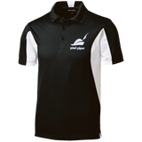Piped-Piper-Logo---Silicon-Valley-Tall-Colorblock-Performance-Polo-Black/White-LT-