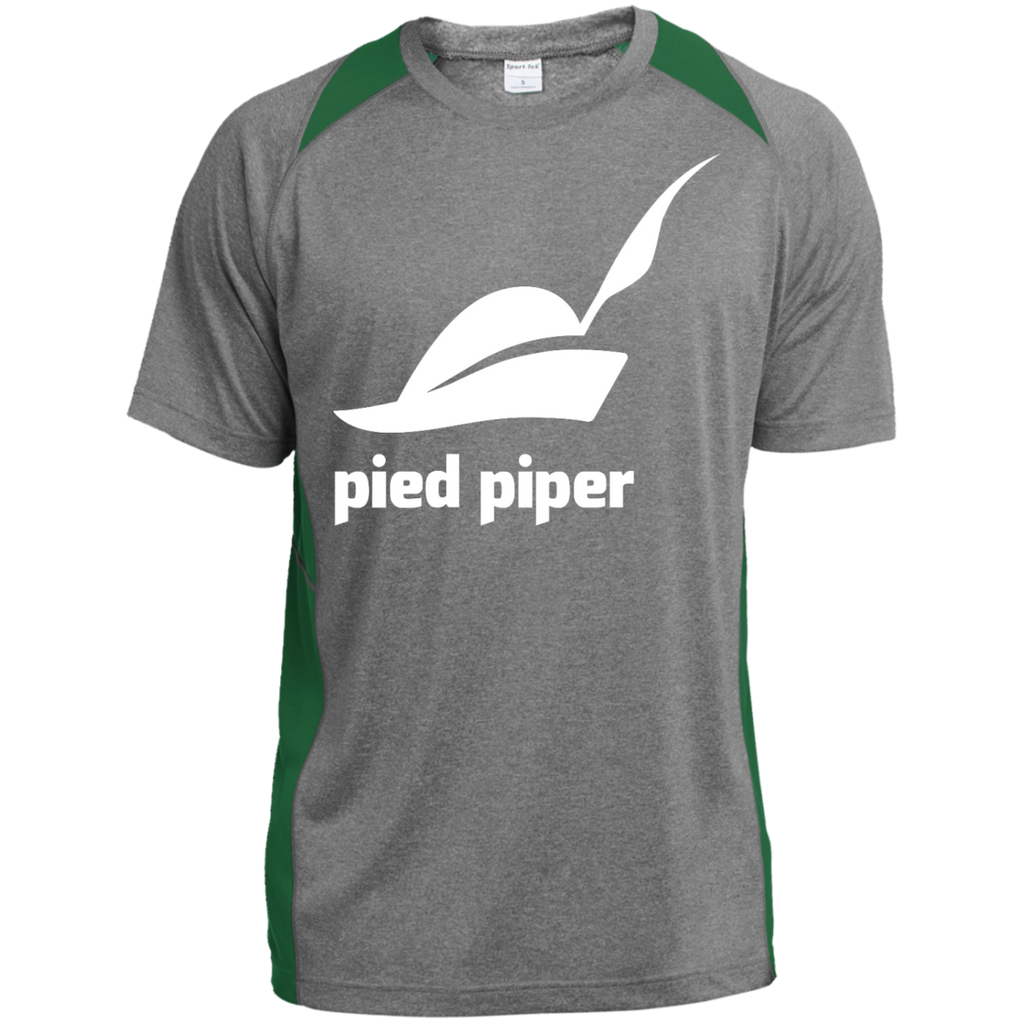 Piped-Piper-Logo---Silicon-Valley-Custom-Printed-Heather-Colorblock-Poly-T-shirt-Vintage-Heather/Orange-XS-