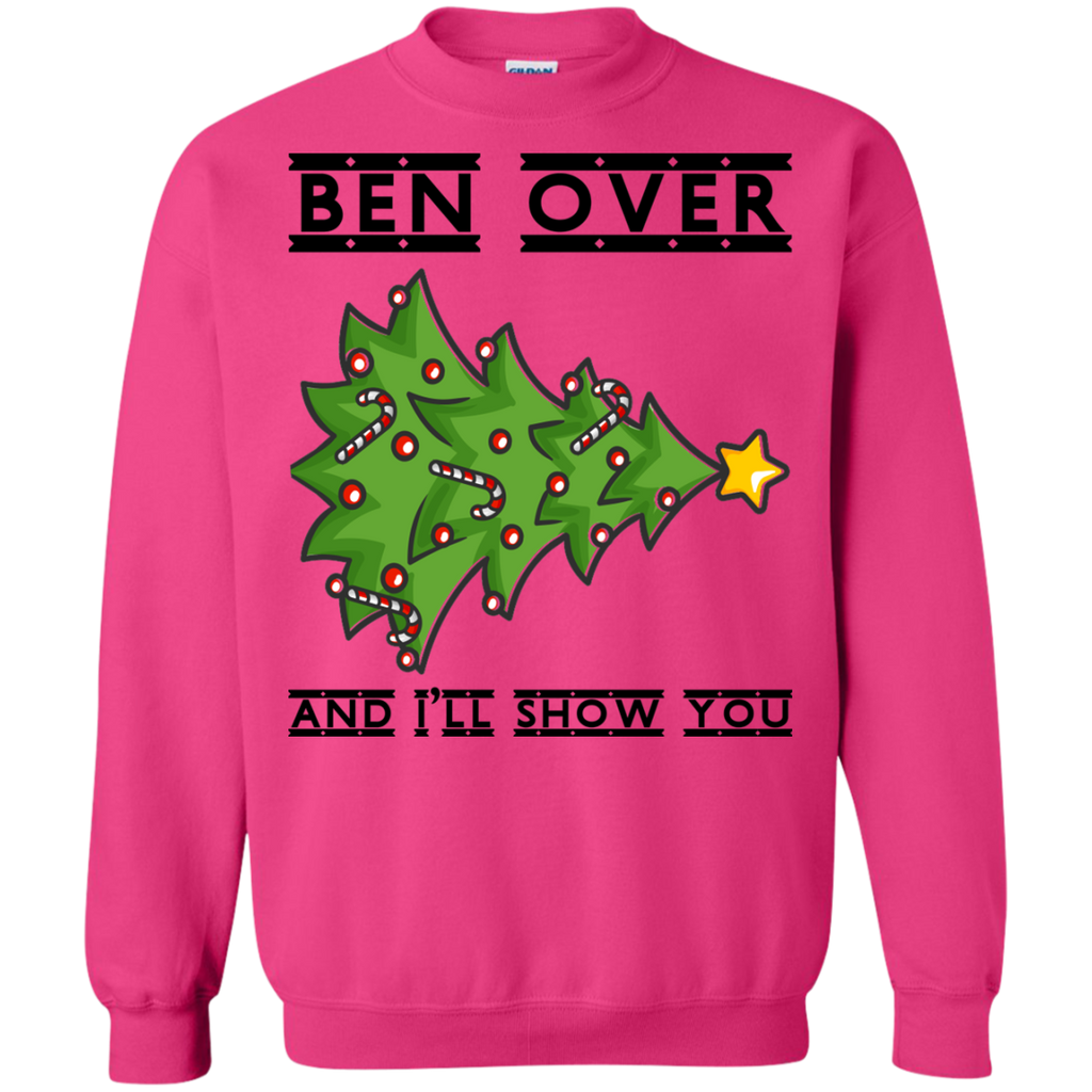 Bend-Over-And-I'll-Show-You---Christmas-Tree-Sweatshirt-White-S-