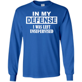 In-My-Defense-I-Was-Left-Unsupervised-LS-Tshirt---Teeever.com-Black-S-