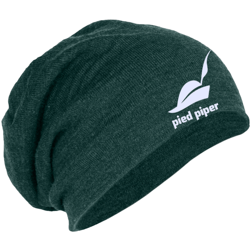 Piped-Piper-Logo---Silicon-Valley-Slouch-Beanie-Charcoal-Heather-One-Size-