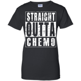 Straight-Outta-Chemo---Cancer-Awareness-Ladies-T-Shirt---Teeever.com-Black-XS-