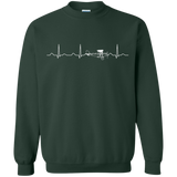 Airplane-Pilot-Heartbeat---Funny-Cute-Flying-Gift-Pullover-Sweatshirt---Teeever.com-Black-S-