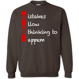 MAth-Funny-Math-Gifts-Mistakes-Allow-Thinking-Pullover-Sweatshirt-Black-S-