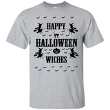 Happy Halloween Witches - Baseball ringer tee - T-Shirt - Sport Grey / S- Short Sleeve -TeeEver.com