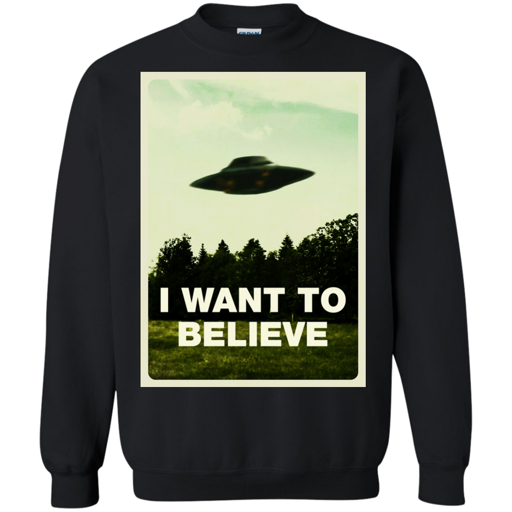 UFO-Shirt---I-Want-To-Believe-Alien-UFO-Pullover-Sweatshirt---Teeever.com-Black-S-