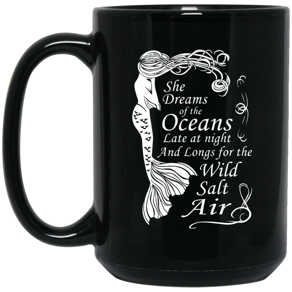 Mermaid-Maiden---She-Dreams-of-the-Oceans15-oz.-Black-Mug-Black-One-Size-