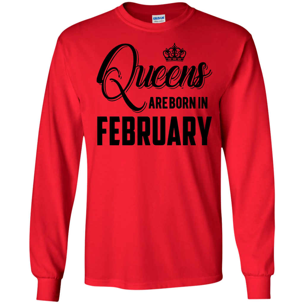 Queens-Are-Born-In-February-Shirt-Born-in-February-LS-Tshirt---Teeever.com-Sport-Grey-S-
