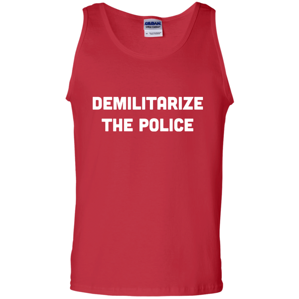 DEMILITARIZE-THE-POLICE-100%-Cotton-Tank-Top-Black-S-