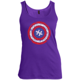 Autism-Awareness-Tshirt-Captain-Autism-Puzzle-Shield---tank-top,-women's-tank-top-100%-Cotton-Tank-Top-Black-S