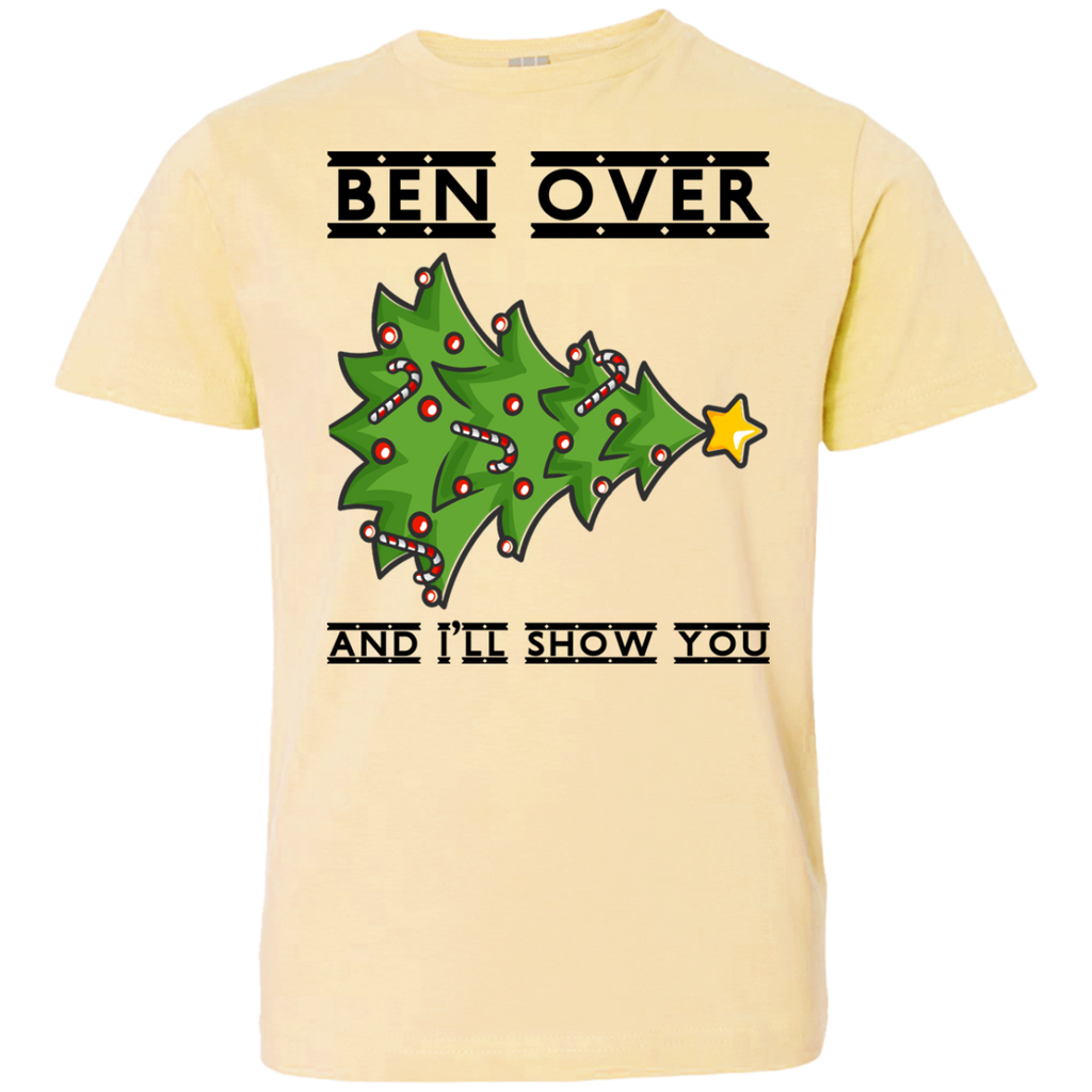 Bend-Over-And-I'll-Show-You---Christmas-Tree-Youth-Jersey-Tee-White-YXS-