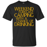 Weekend-Forecast-Camping-With-A-Chance-Of-Drinking-T-Shirt-Black-S-
