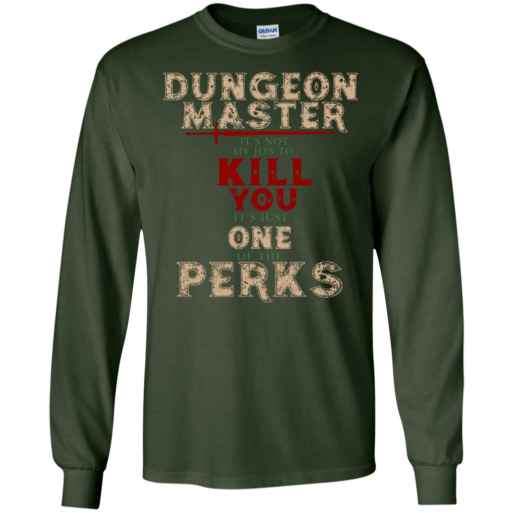 Dungeons-and-Master-It's-Not-My-Job-One-Perks-LS-T-Shirt-Black-S-