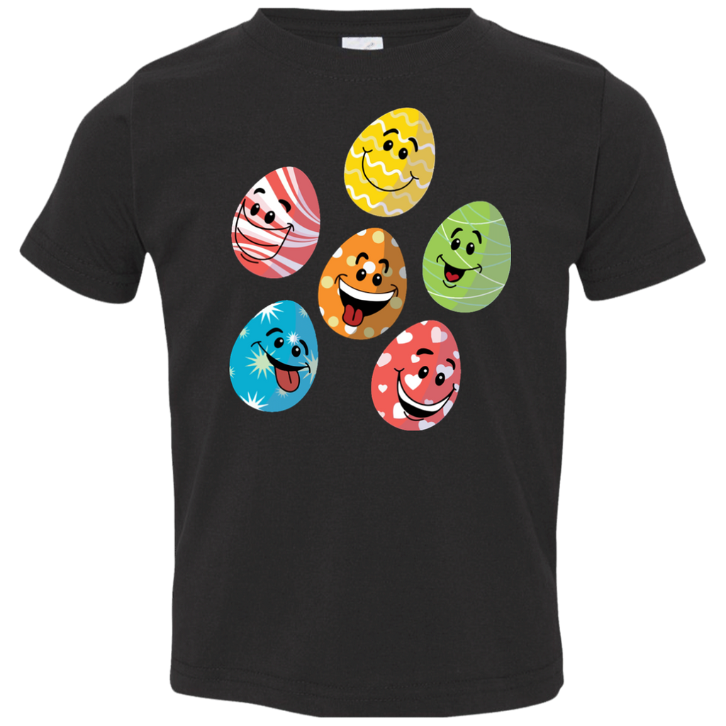 Easter-Emoji-Cute-Eggs-Faces-Happy-Easter-Day-Funny-Toddler-Jersey-Tee-Black-2T-
