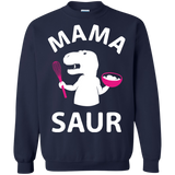 Mama-Saur---T-REX-Mom-Funny-Gift-for-Mothers-Day-Pullover-Sweatshirt---Teeever.com-Black-S-