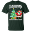 Cute-Dabbing-Around-The-Christmas-Tree-funny-Santa-Youth-Tee-Black-YXS-