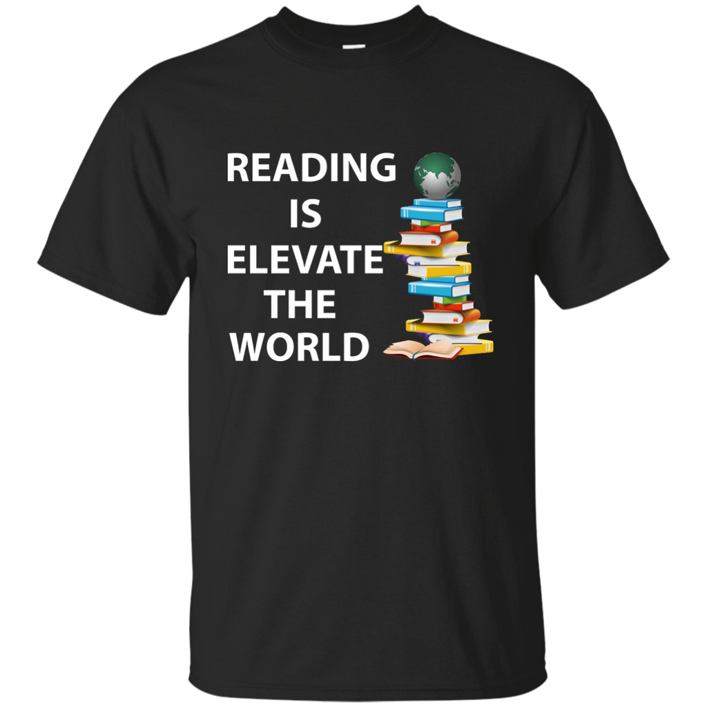 Reading-is-elevate-the-World---reading-book---Men/Women-T-Shirt-Custom-Ultra-Cotton-T-Shirt-Black-S