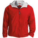 [TeeEver]-Embroidered-Team-Jacket---No-Prints-J-Red/Light-Oxford-XS-