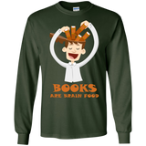 Books-are-Brain-Food---Reading---funny---LS-shirt,-Sweatshirt,-Hoodie-LS-Ultra-Cotton-Tshirt-Black-S