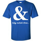 Baby-makes-three....-Custom-Ultra-Cotton-T-Shirt-Black-S-