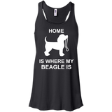 Home-is-where-my-beagle-Racerback-Tank-Black-XS-