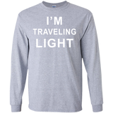 I'm-Traveling-Light-LS-Ultra-Cotton-Tshirt-Sport-Grey-S-