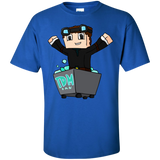 DanTDM-The-Diamond-MineCart-T-Shirt-Ash-S-