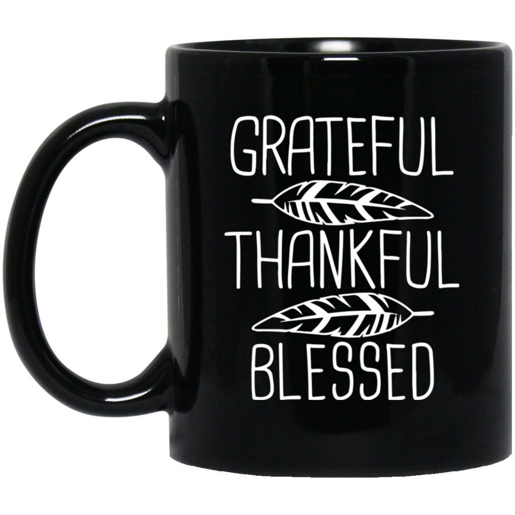Women-Grateful-Thankful-Blessed-Thanksgiving-Shirt-Black-mugs-BM11OZ-11-oz.-Black-Mug-Black-One-Size