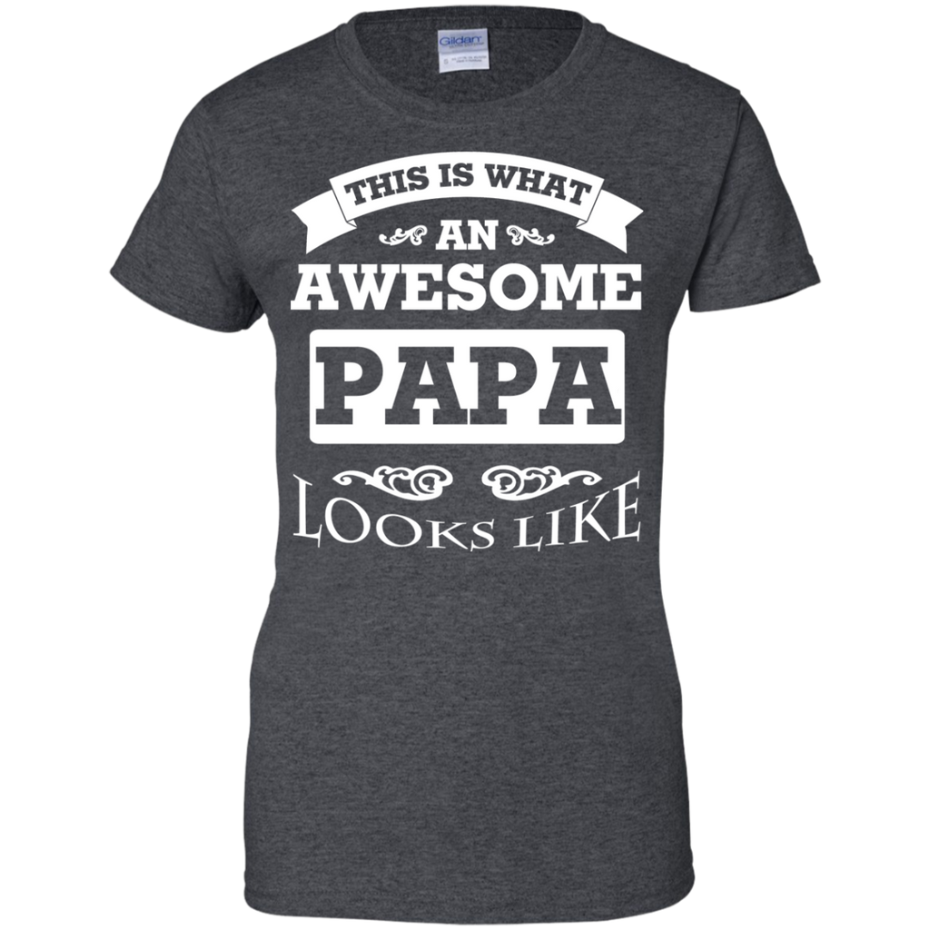 This-Is-What-An-Awesome-Papa-Looks-Like-Ladies-Custom-100%-Cotton-T-Shirt-Black-XS-