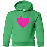 Cute-Heart-Cat-Youth-Pullover-Hoodie-White-YS-
