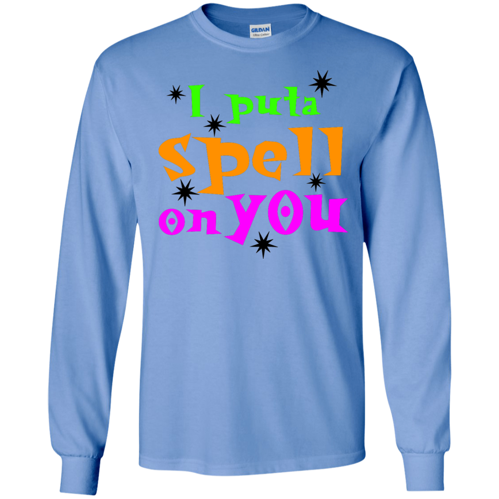 I-put-a-spell-on-you,-funny-halloween-LS-T-Shirt-Sport-Grey-S-
