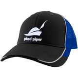 PIED-PIPER---SILICON-VALLEY-Colorblock-Mesh-Back-Cap-Black/True-Royal-One-Size-