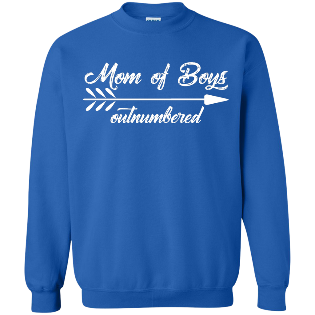 Mom-Outnumbered-of-boys-Shirt---Funny-Mother-Pullover-Sweatshirt---Teeever.com-Black-S-