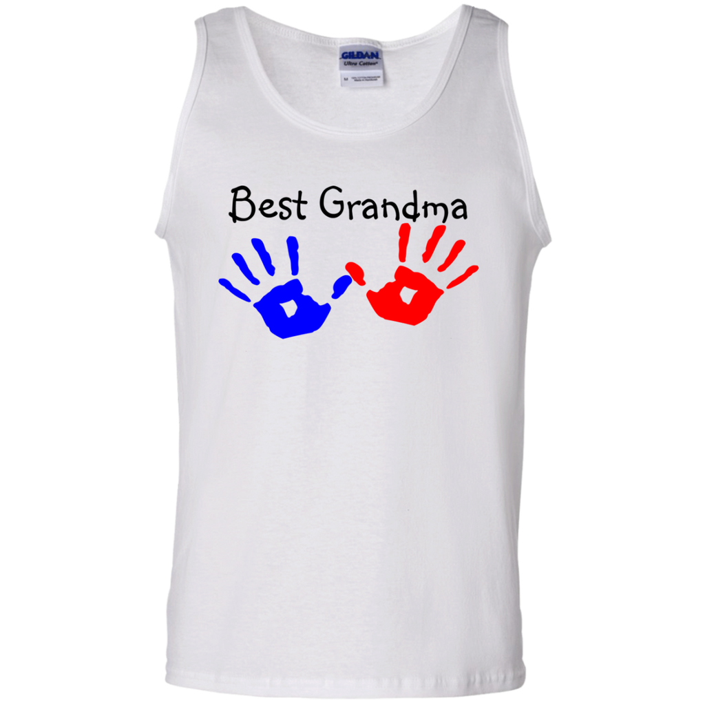 Best-Grandma-100%-Cotton-Tank-Top-Ash-S-