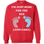 I'm-Just-Here-For-The-Sex-And-Cake-Baby-Shower-Gender-Reveal-Pullover-Sweatshirt---Teeever.com-Black-S-