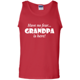 Have-no-fear...-Grandpa-is-here!-100%-Cotton-Tank-Top-Black-S-