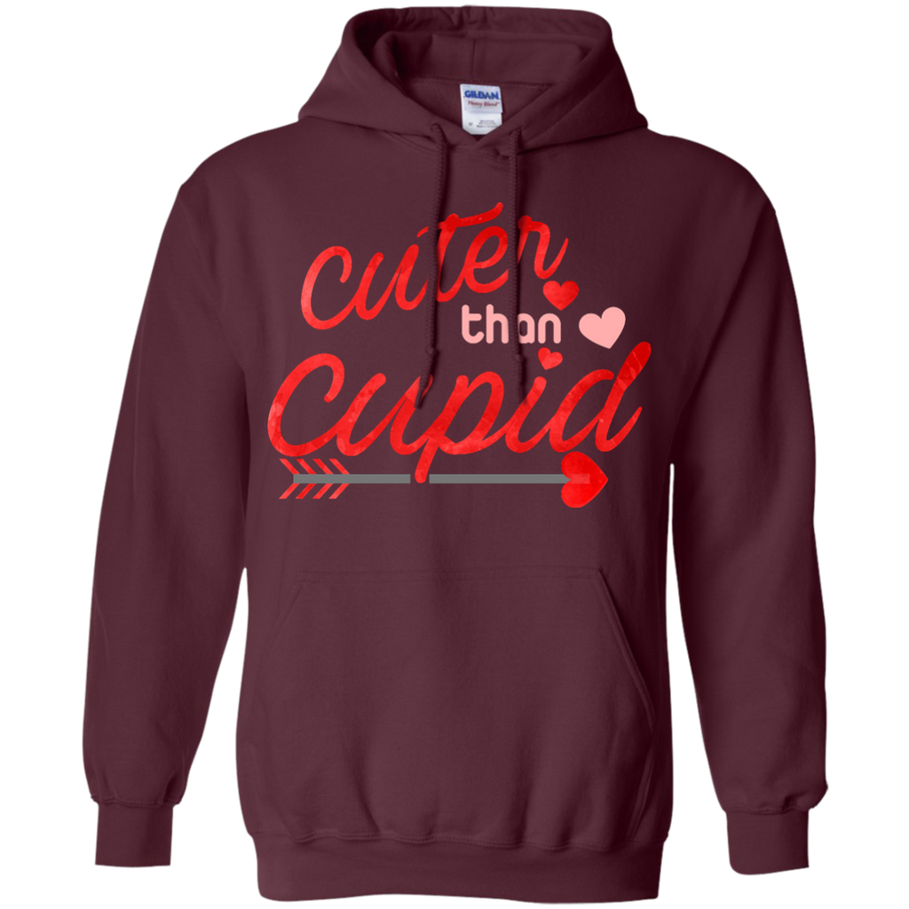 Cuter-than-cupid,-valentine-day-Pullover-Hoodie-8-oz-White-S-