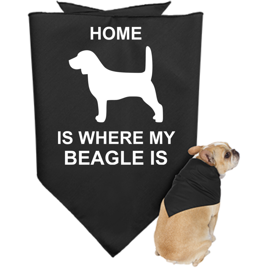 Beagle-Where-my-home-is-Doggie-Bandana-Black-One-Size-