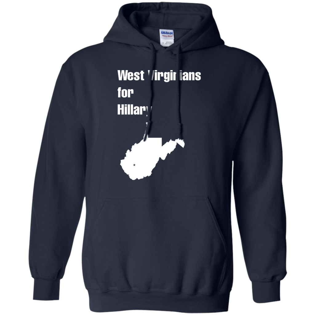 West-Virginians-for-Hillary-Pullover-Hoodie-8-oz-Black-S-
